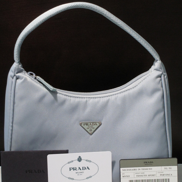 e3ebd60bef9 Authentic Prada Handbag Light Blue Nylon EUC! M_5a557cc731a37687b9077f94